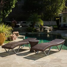 Aliso 3 Piece Chaise Lounge Set