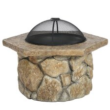 Evens Glass Fiber and Concrete Wood Fire Pit