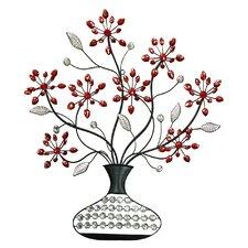 Faux Vase & Flower Wall Décor