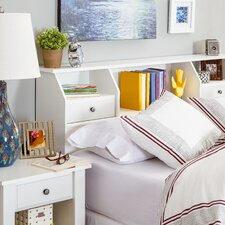 Revere Bookcase Headboard in Soft White