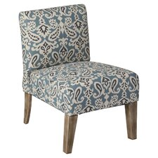 Paisley Slipper Chair in Blue