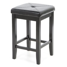 "Harriet 24"" Bar Stool with Cushion (Set of 2)"