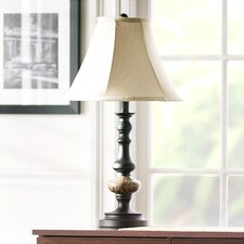 "Polyresin 24"" H Table Lamp with Bell Shade"