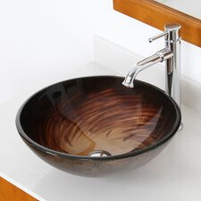 Whirlpool Hand Painted Bowl Vessel Bathroom Sink
