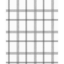 "Plaid 33' x 20"" Geometric Wallpaper"