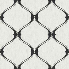 Graham Curvy Ogee 33' x 20'' Trellis Embossed Wallpaper