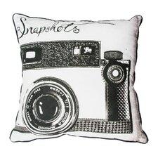 Snapshots Cotton Throw Pillow