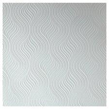 "Paintable 33' x 20.5"" Embossed Wallpaper"