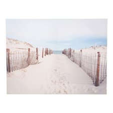 "Portfolio ""Walk To The Beach"" Photographic Print on Canvas"