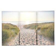 'Beach Walk' 3 Piece Photographic Print on Canvas Set