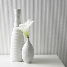 "Paintable Corduroy 32.8' x 20.5"" Stripes Embossed Wallpaper"