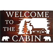 Welcome to the Cabin Wall Decor
