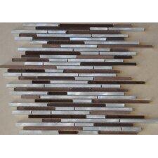 Urban 12'' x 12'' Glass Metal Look Tile in Multi