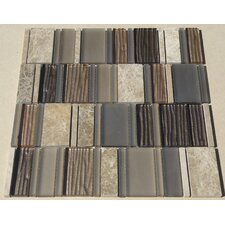 Loft Random Sized Glass Mosaic Tile in Multi