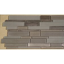 Studio Random Sized Glass Mosaic Tile in Brown