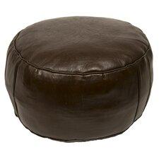 Moroccan Leather Pouf Ottoman III