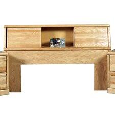 Queen Wood Bookcase Headboard
