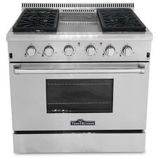 Hyxion 5.2 cu. Ft. Gas Convection Range in Stainless Steel