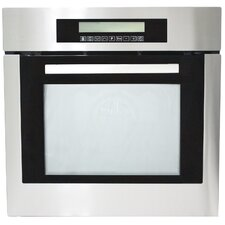 "24"" Self Cleaning Electric Single Wall Oven in Black"