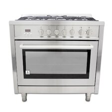 3.8 Cu. Ft. Dual Fuel Convection Range in Stainless Steel