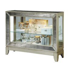 Mirrored 2 Shelf Console Cabinet