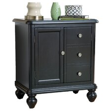 Faux 3 Drawer Accent Chest in Black