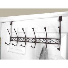 6 Hook over the Door Coat Rack