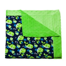 Out to Sea Printed Minky Dot Blanket