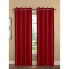 Kim Faux Silk Extra Wide Grommet Curtain Panel (Set of 2) (Set of 2)