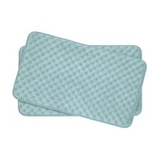 Massage Small 2 Piece Premium Micro Plush Memory Foam Bath Mat Set (Set of 2)