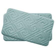 Caicos Small 2 Piece Premium Micro Plush Memory Foam Bath Mat Set (Set of 2)