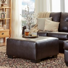 Charlotte Leather Ottoman