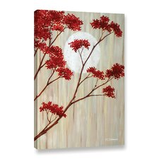 Red Blooms III Painting Print on Wrapped Canvas