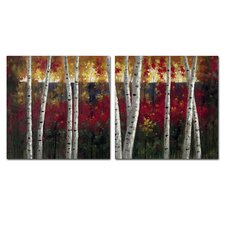 Autumn Aspens Wall Art Set