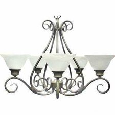Berner 5-Light Pewter Chandelier