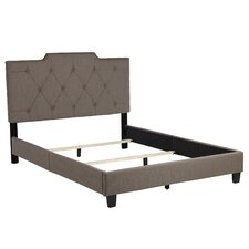 Inset Queen Panel Bed in Taupe