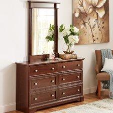 Sutton 6 Drawer Dresser with Mirror