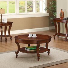 Curved Brown Coffee Table Set