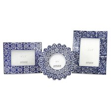 Lucenda 3 Piece Ceramic Picture Frame Set