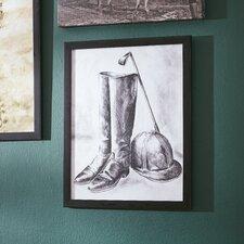 'Jockey Still Life' Framed Painting Print on Canvas
