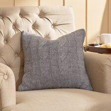 Deluxe Cable Knit Wool Throw Pillow
