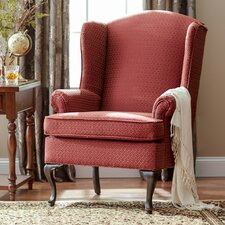 Damask Wingback Chair