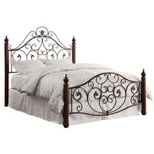 Graceful Scroll Panel Bed