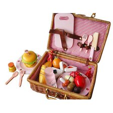 19 Piece My Picnic Wooden Play Food Set