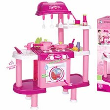 Deluxe Cooking Plastic Play Kitchen