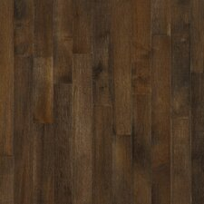 Random Width Solid Dark Maple Hardwood Flooring in Cappuccino