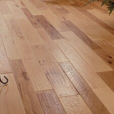 Random Width Engineered Hickory Hardwood Flooring in Spicy Cider
