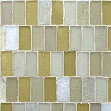 """Carissa 12.7"""" x 12.7"""" Glass Mosaic Tile in Goldenrod"""