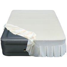 """Lustrous 20"""" Queen Air Mattress with Perfectly Fitted Skirted Sheet Cover"""