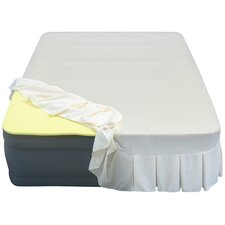 """Lustrous 20"""" Air Mattress with 1"""" Memory Foam Topper and Skirted Sheet Cover"""